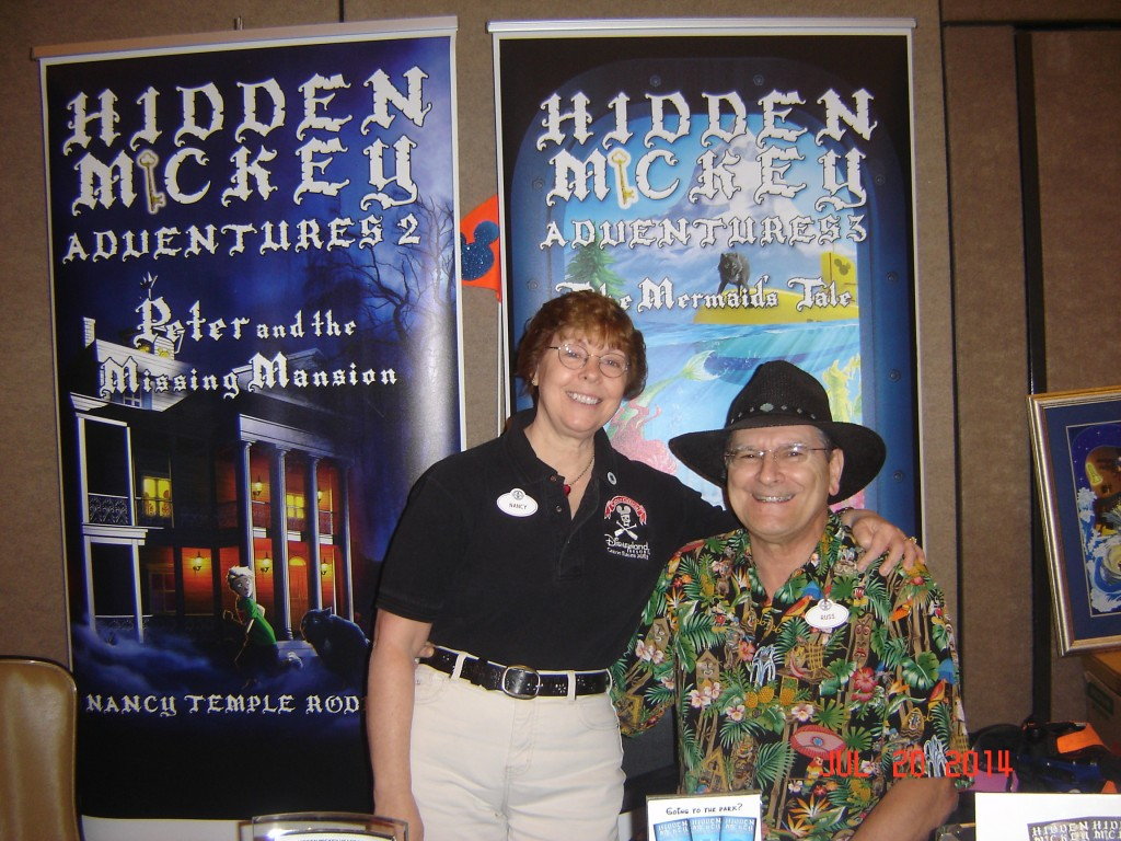 Nancy Temple Rodrigue, and her husband Russ, at the Disneyana Mania Expo July 20, 2014